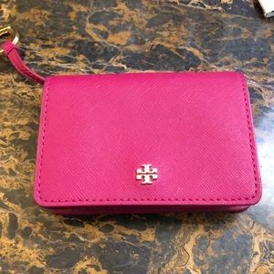 Pink Tory Burch Key clutch